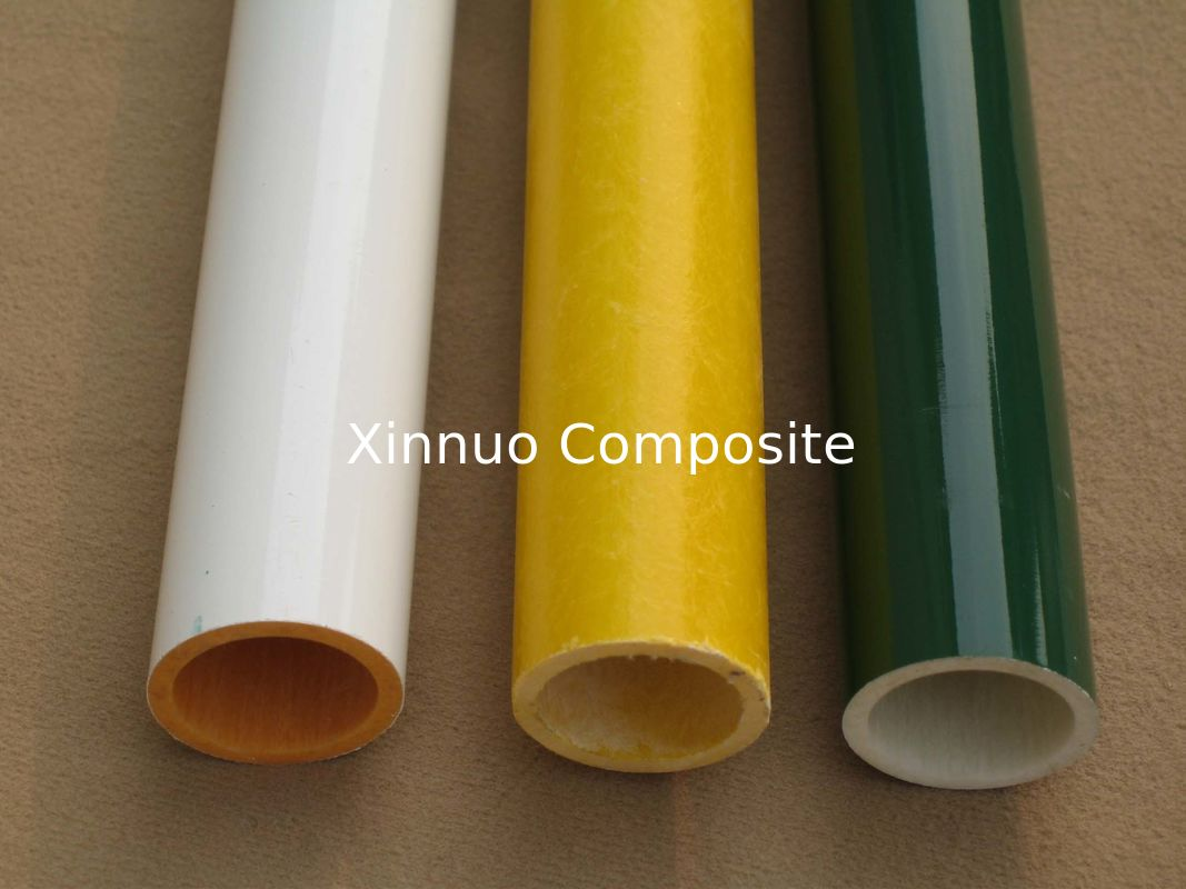 hot sell Colorful painted Glass fiber tube FRP tube frp pipe fiberglass tube pole can be OEM  with factory price