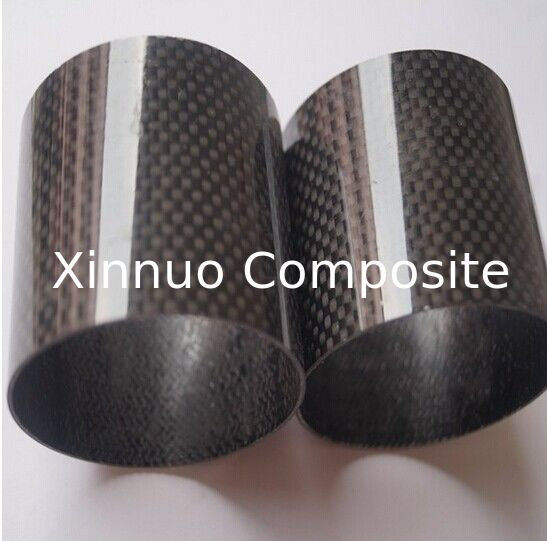 carbon mix glass fiber pipe/tubes with 3K plain or 3K twill surface 50% carbon +50% glass fiber tube