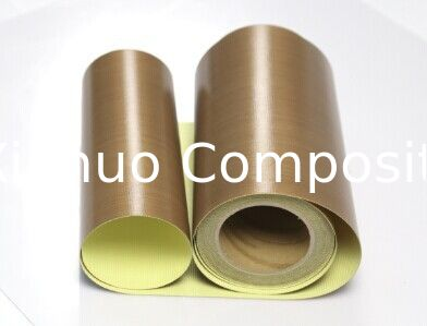 PTFE coated fiberglass fabrics with adhesive