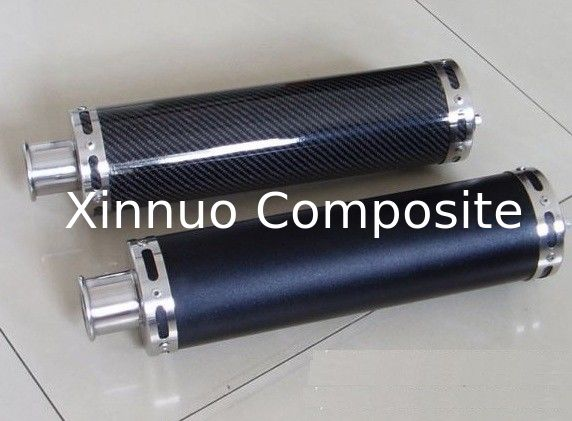 carbon fiber exhaust cover pipe muffler tube  silencer cover with 3K twill weave