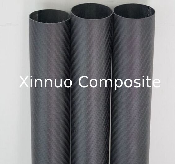 3K twill carbon fiber surface+inside glass fiber tubes  used for exhaust pipe