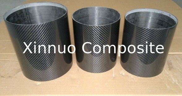 175mm/150mm/100mm/98mm diameter carbon fiber tube high glossy/semi-glossy surface 3K plain twill carbon fiber tube rod