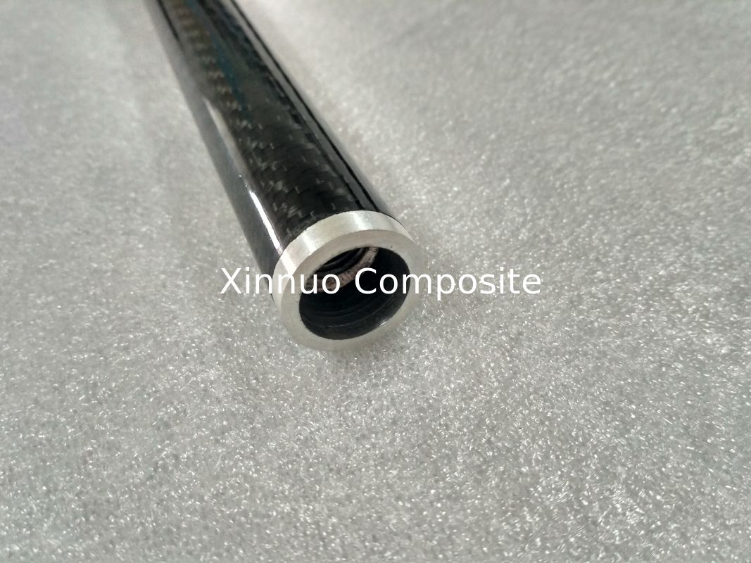 Aluminum joint connect 3K twill carbon fiber tube tubing tubes with