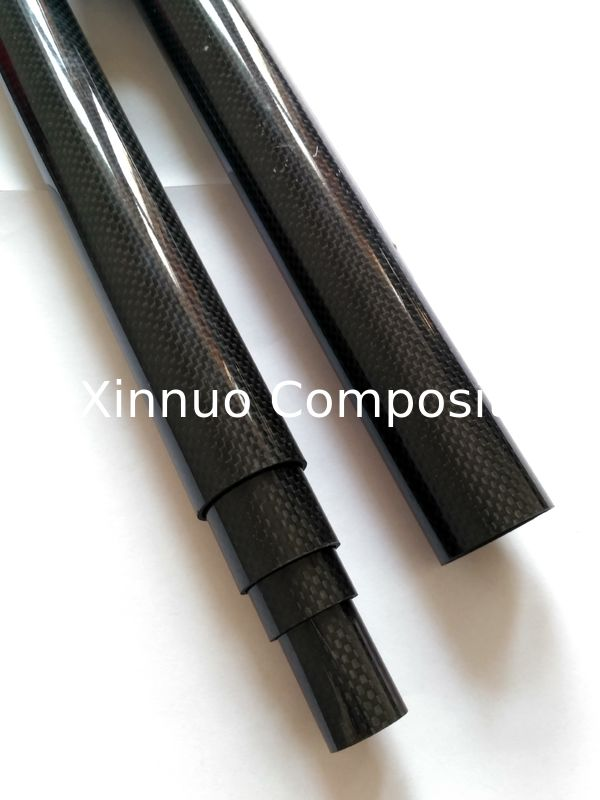 carbon fiber heating tube  carbon fiber telescopic tube 50mm 70mm 100mm