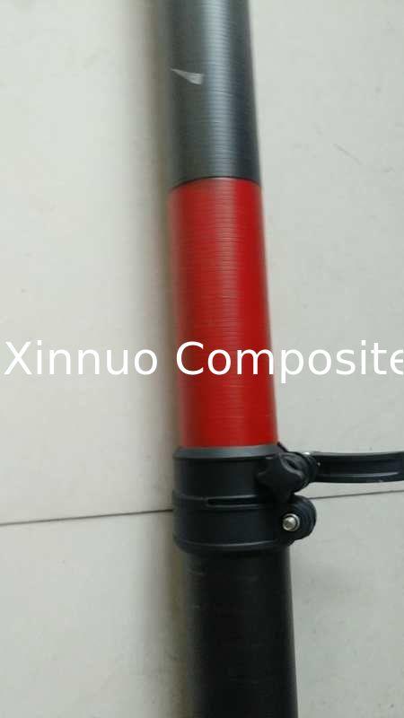 high stiffness carbon fiber telescopic pole with locks for