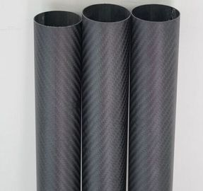 China 3K twill carbon fiber surface+inside glass fiber tubes  used for exhaust pipe distributor