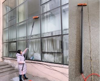 China carbon fibre  telescopic tube pole carbon fiber reach and wash pole  long window cleaning pole with brush distributor