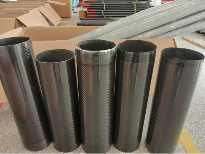 2.5 meter long carbon fiber round tube pipe for nonwoven machine Papermaking equipment etc