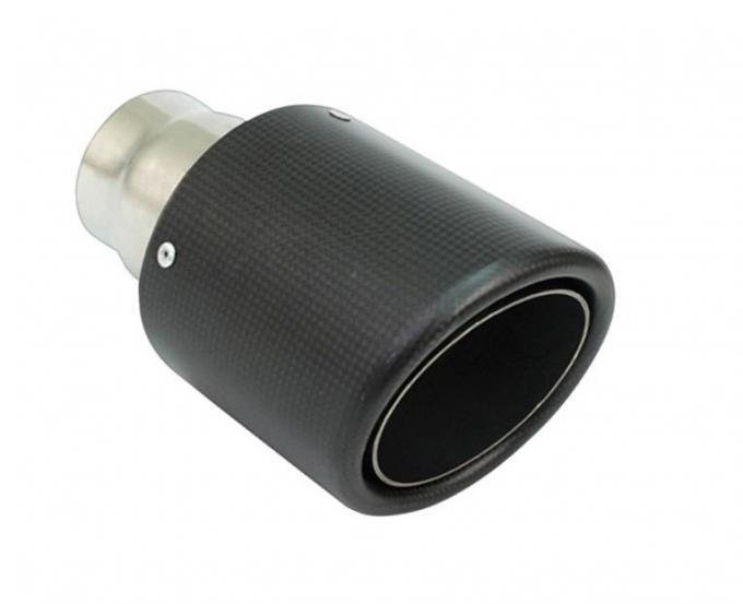 Prepreg  carbon fiber exhaust pipe tube  round  Rolled Edge Angle Cut  for  Porsche exhaust tip