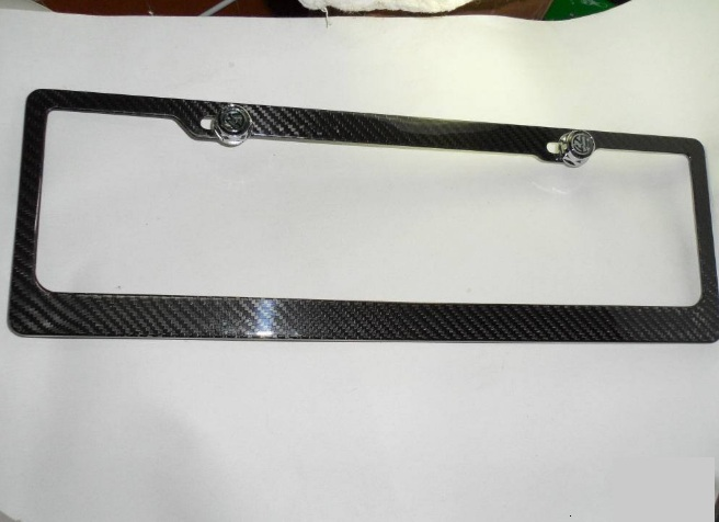 custom matte glossy carbon fiber licences  plate frame  for  motorcycle  automobile BMW Benz  Porsche